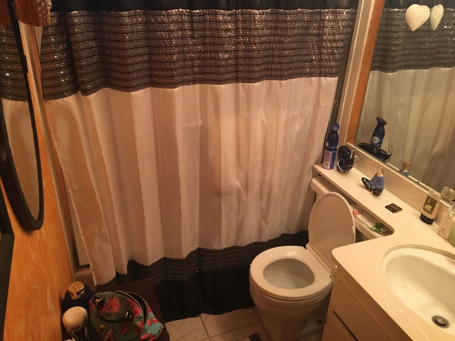 Hi this is my one and only bathroom for us to share