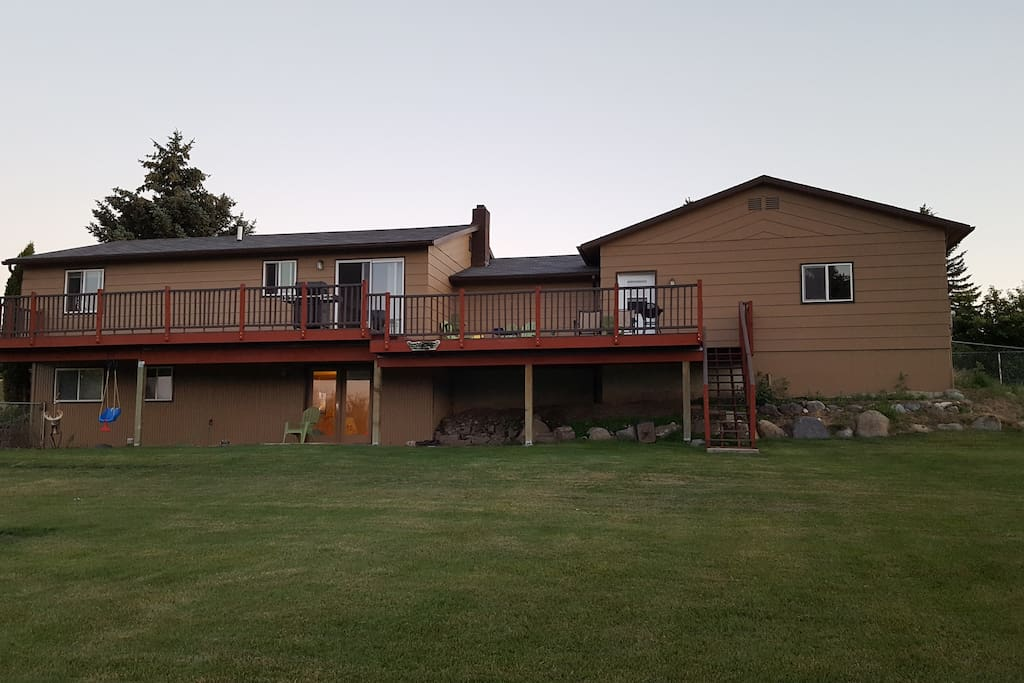 This is the back view of the house. A lot of memories are made on that deck.