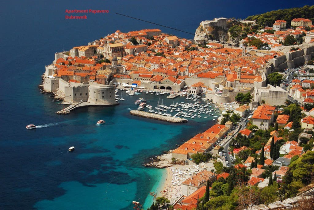 Location of the apartment - in the Old City of Dubrovnik, just within the City walls