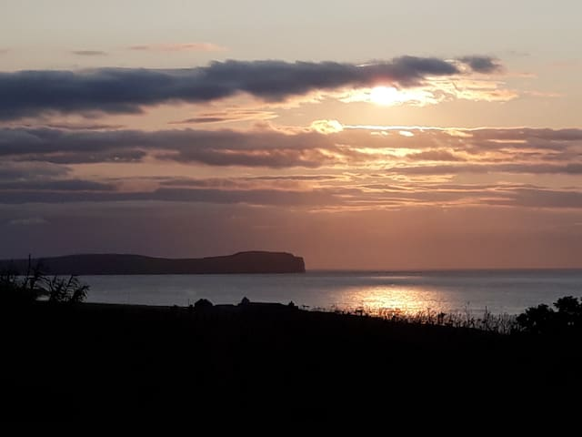 we have wonderful views over to Dunnet Head (Scotland's most Northerly point) and enjoy magnificent sunsets.
