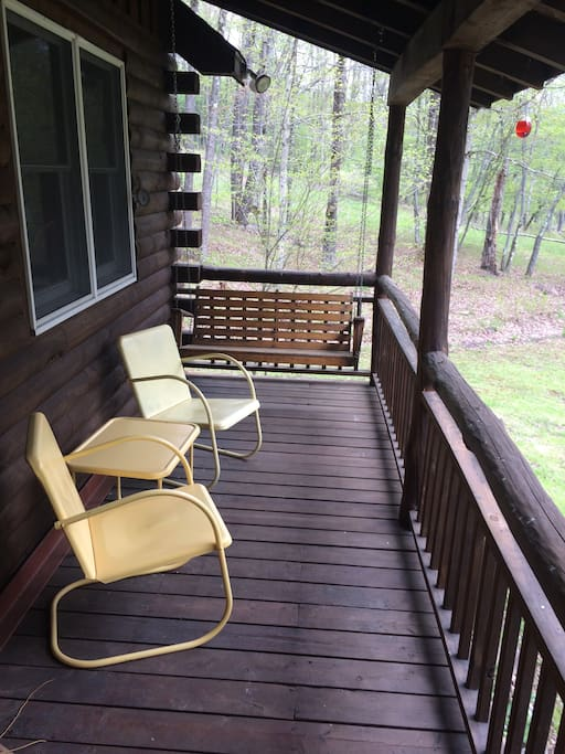 or reading a book on the porch swing.
