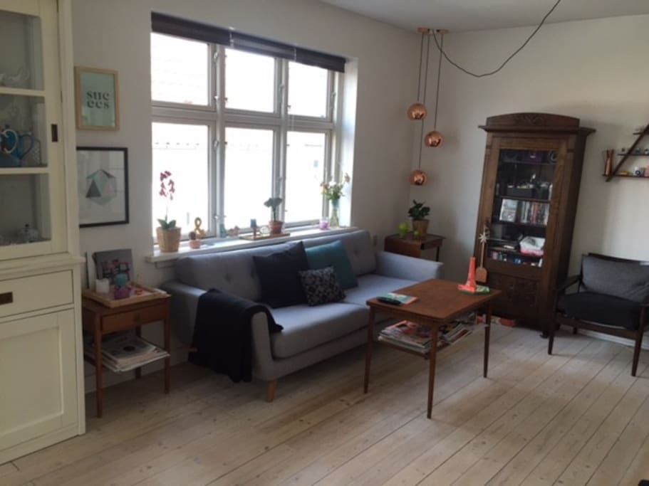 Stue: Sofa og 2 stole