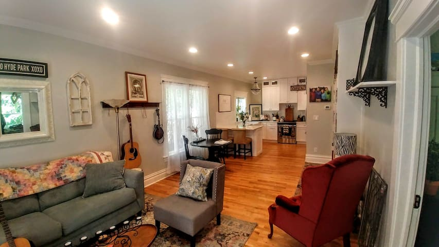Our recently remodeled home is extremely comfortable and charming.