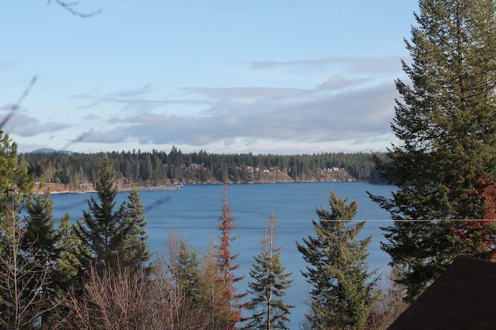 View of Hayden Lake, near Silverwood, golf, marina