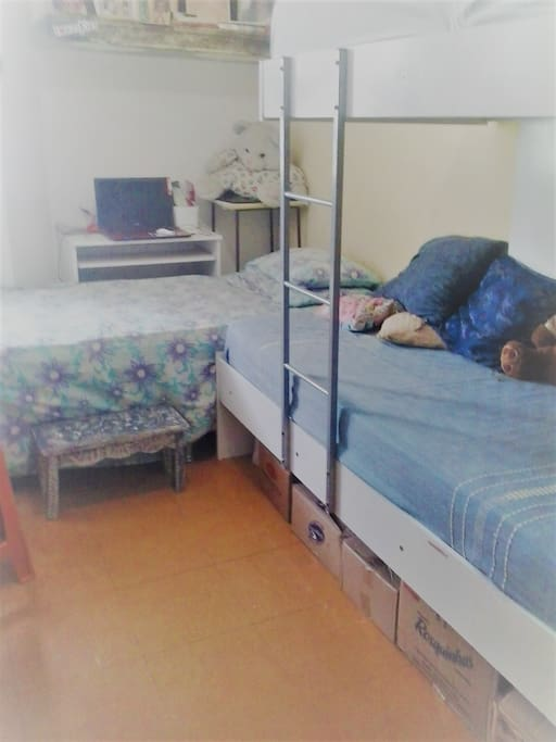a minha cama é a do canto
