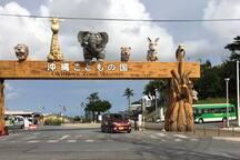 車で7〜8分のところに、動物園やチルドレンミュージアムが楽しめる沖縄こどもの国があります。
