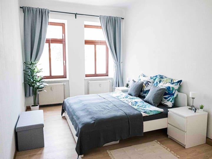 ★Top moderne Wohnung in Leipziger Altbau+Netflix★