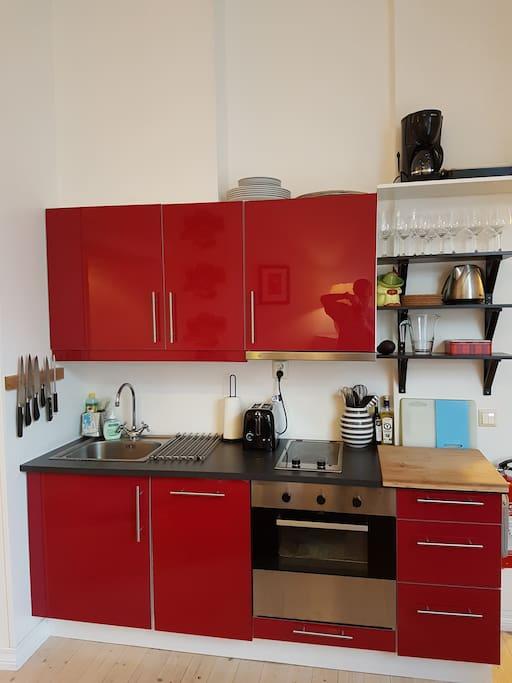 Practical kitchen area