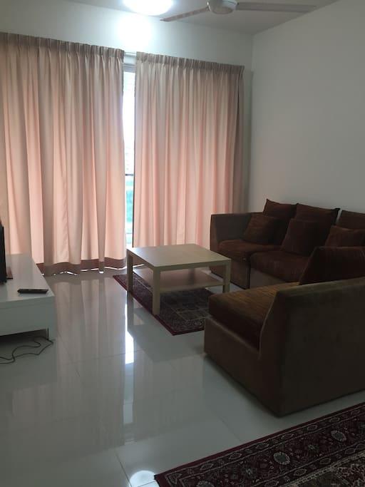Cosy living room that overlooks Ara Damansara