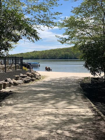 We include 8 passes for our guests for the Lake club, which is a 5 minute walk by a private walking path