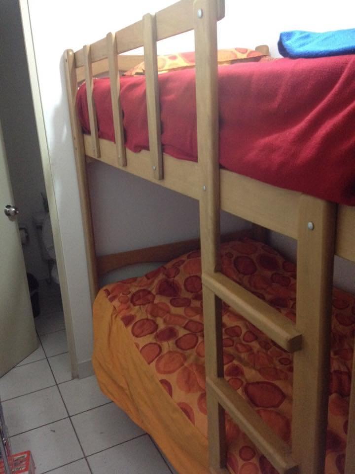 La habitación con las camas
