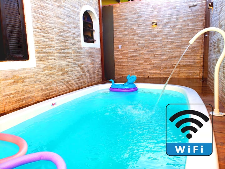 Wi-Fi - Piscina - 700 metros do Mar - Bairro Nobre