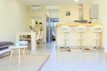 Superbe T2 en Rez-de-jardin à 100 m de la plage - La Saline-Les-Bains - 公寓