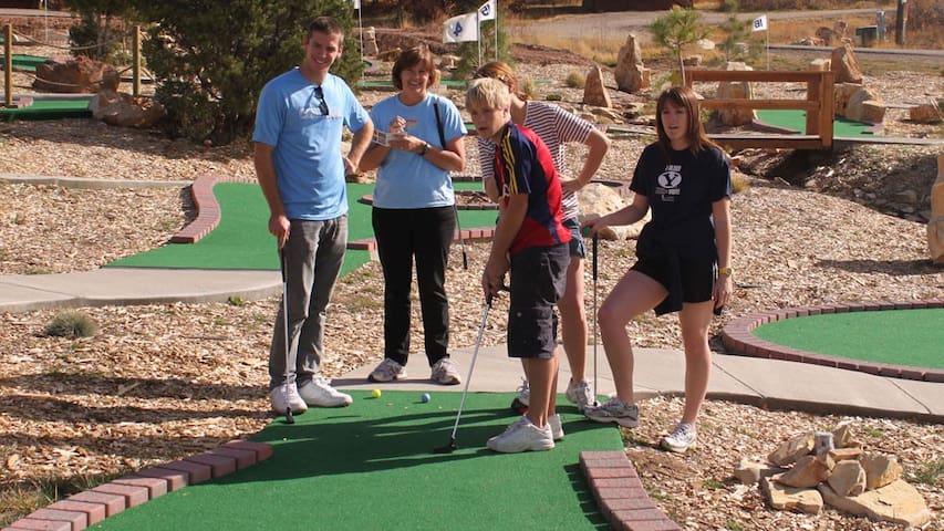 Mini Golf located n property at Zion Ponderosa Resort