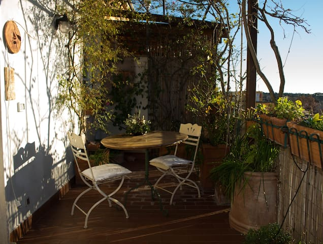 Charming terrace & lovely apartment in quiet area - Rom - Wohnung