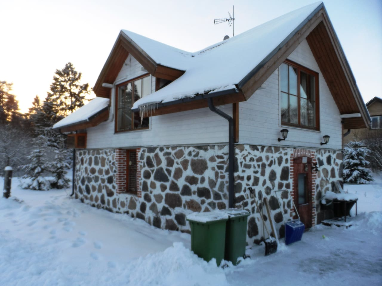 House in winter time.