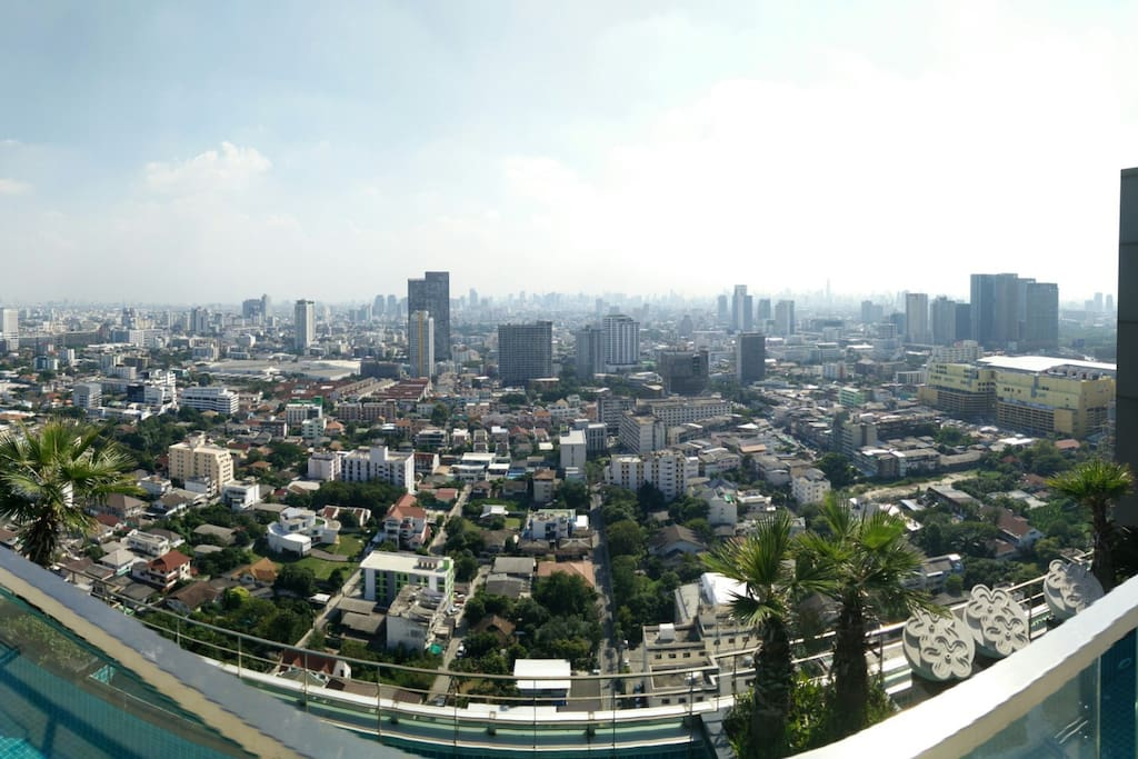 Panoramic View from the Condo Rooftop