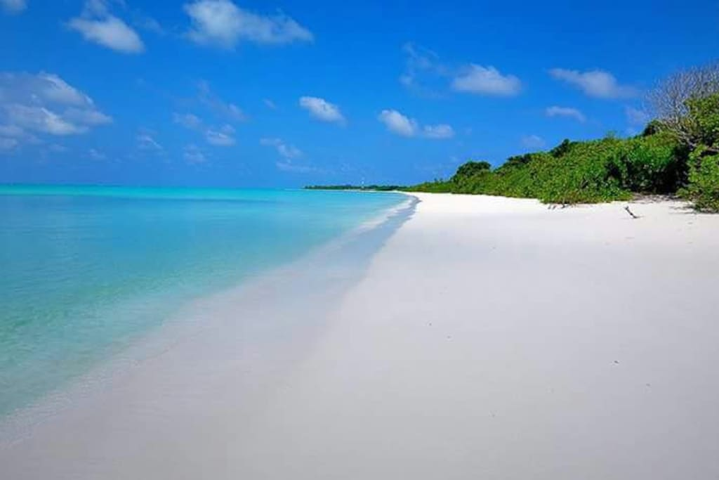 white sand beaches, crystal clear water