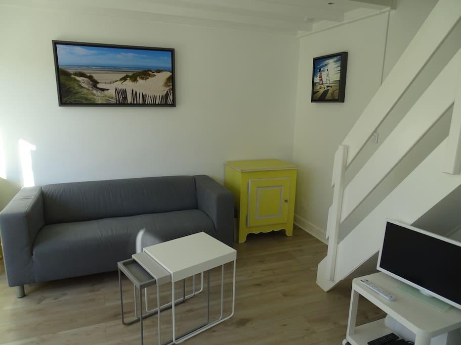Salon avec Tv et wi-fi