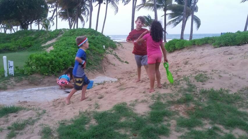 Children will also enjoy closeness to the beach