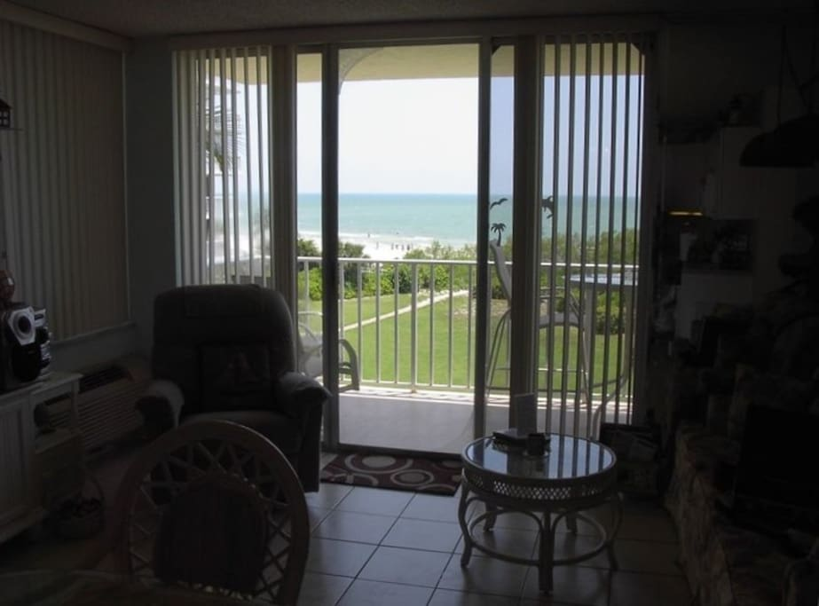 Unobstructed View of the Beach and the Gulf From the Dining Table
