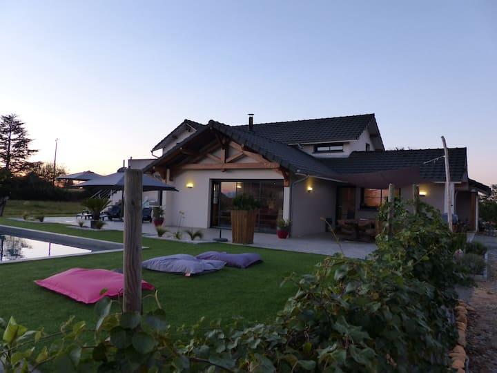 Villa d'architecte avec piscine à 10 min de Pau
