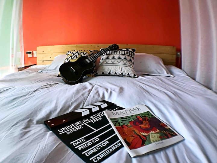 【归宿Morocco】精装修摩洛哥大床房,异域风情格调,邻近学院,水亭门,出行方便