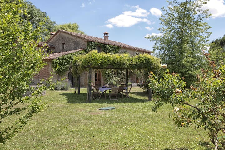 View of the house and pergola.