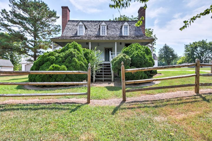 Take a historical trip to this 3-bedroom, 2-bathroom colonial vacation rental.