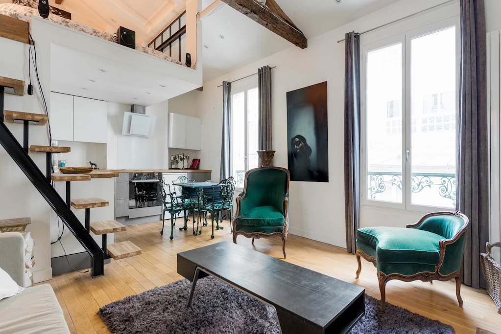 Appartement type loft 40m marais lofts for rent in for Appartement type loft