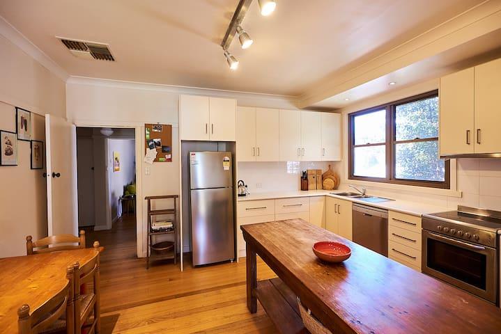 kitchen from back door