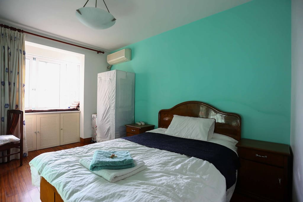 Your bright and comfy room for your stay in our place