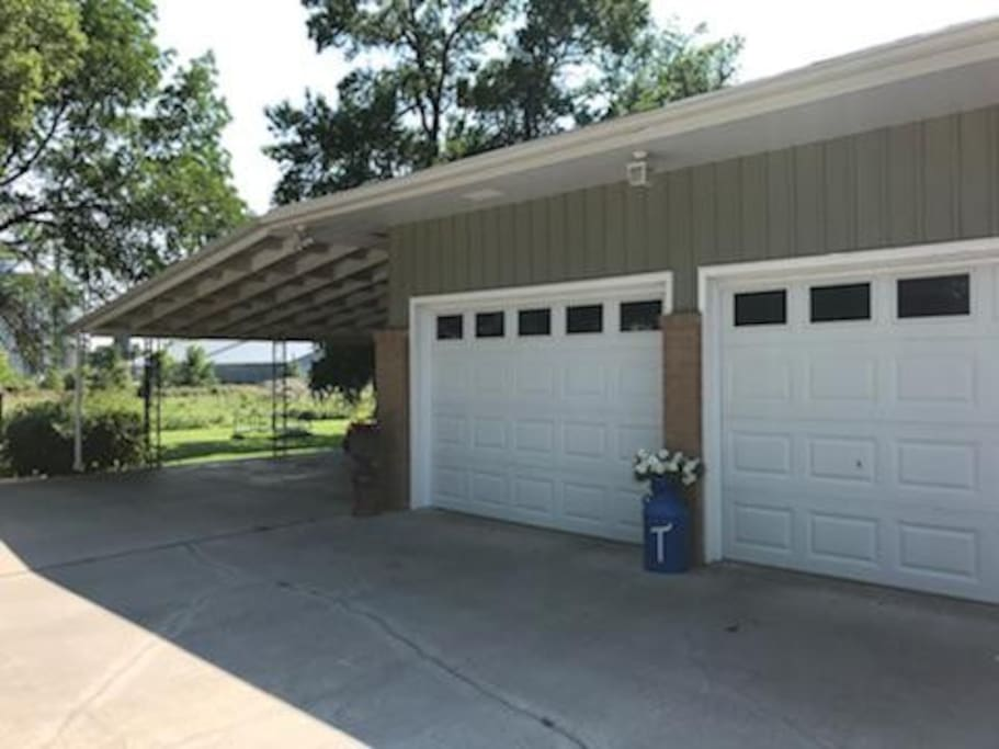 Private Parking on the carport for two vehicles.