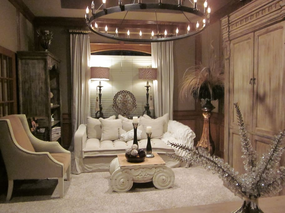 Formal Living/Dining Room: Sofa can be used for a place to sleep.