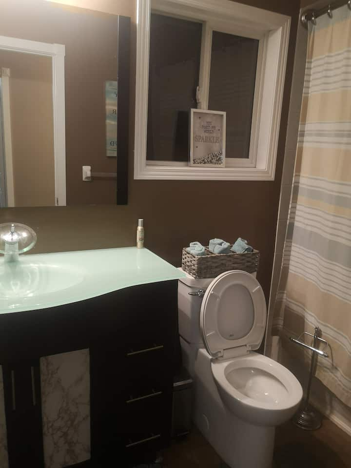 Private bedroom and bathroom for females