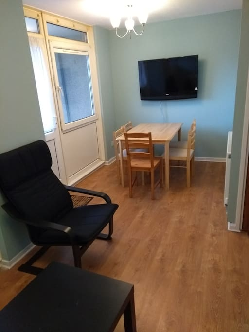 Lounge, TV and dining area
