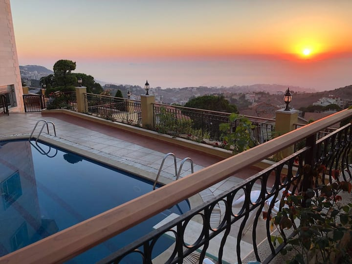 VILLA beirut,lebanon alley. *BREATHTAKING VIEWS*