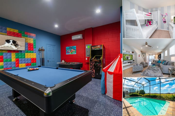 Brand New Pool Home In Resort With Games Room Retro Gaming Arcade 1784la Houses For Rent In Kissimmee Florida United States