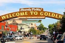 The wonderful quaint town of Golden!