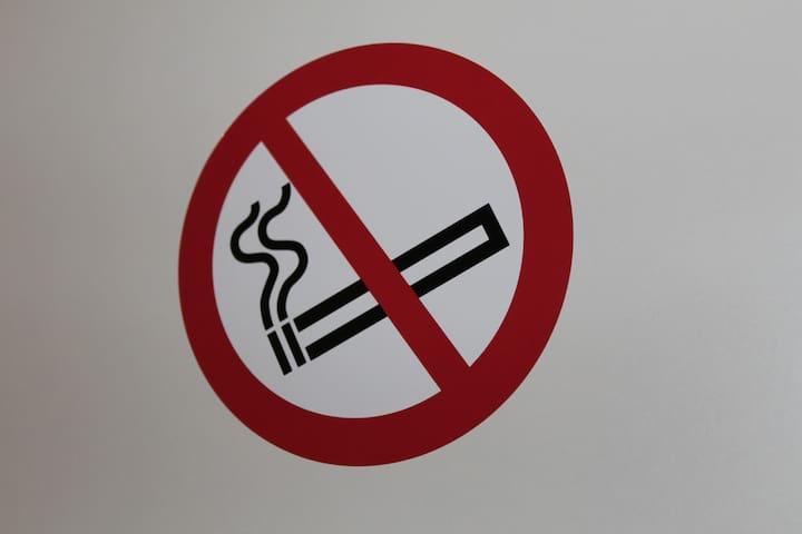 Die Wohnung ist eine Nichtraucher Wohnung!