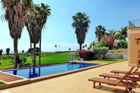 AMAZING INFINITY POOL, sea view, golf course. LUXURY VILLA COSTA ADEJE. TENERIFE - Adeje - Villa