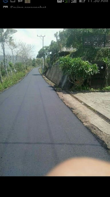 The road has been fixed! Yay!