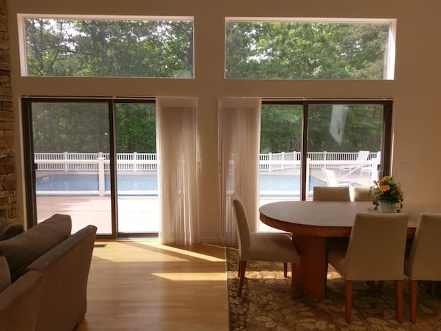 Living Room View Of Pool/Easy Sliding Door Access with screens