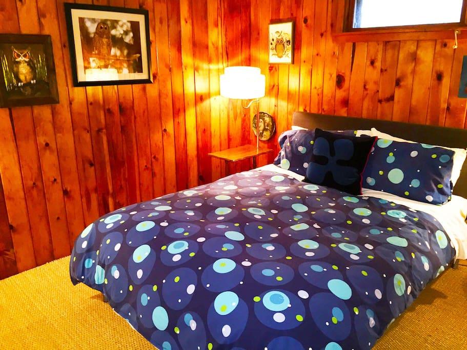 Bedroom one in Suite 5