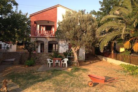 Πέτρινο σπίτι με αυλή&θέα το καλύτερο ηλιοβασίλεμα - Moudros - Διαμέρισμα