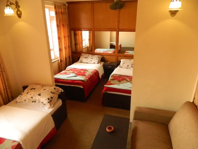 Triple bed with private bathroom