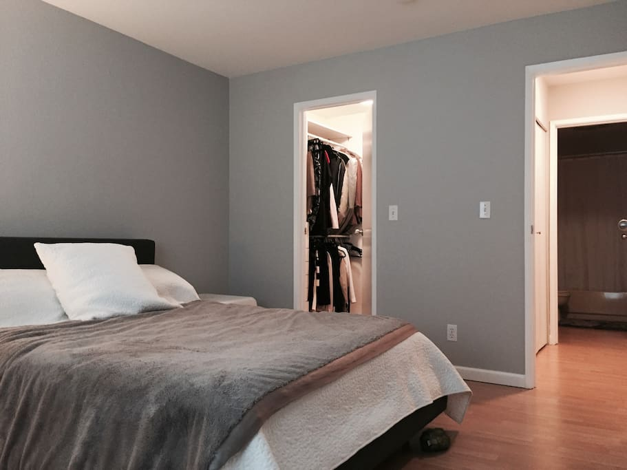 Master Bedroom with walk in wardrobe and attached bath