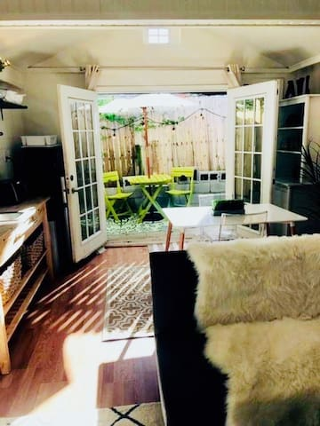 View of Private Patio from Living Room