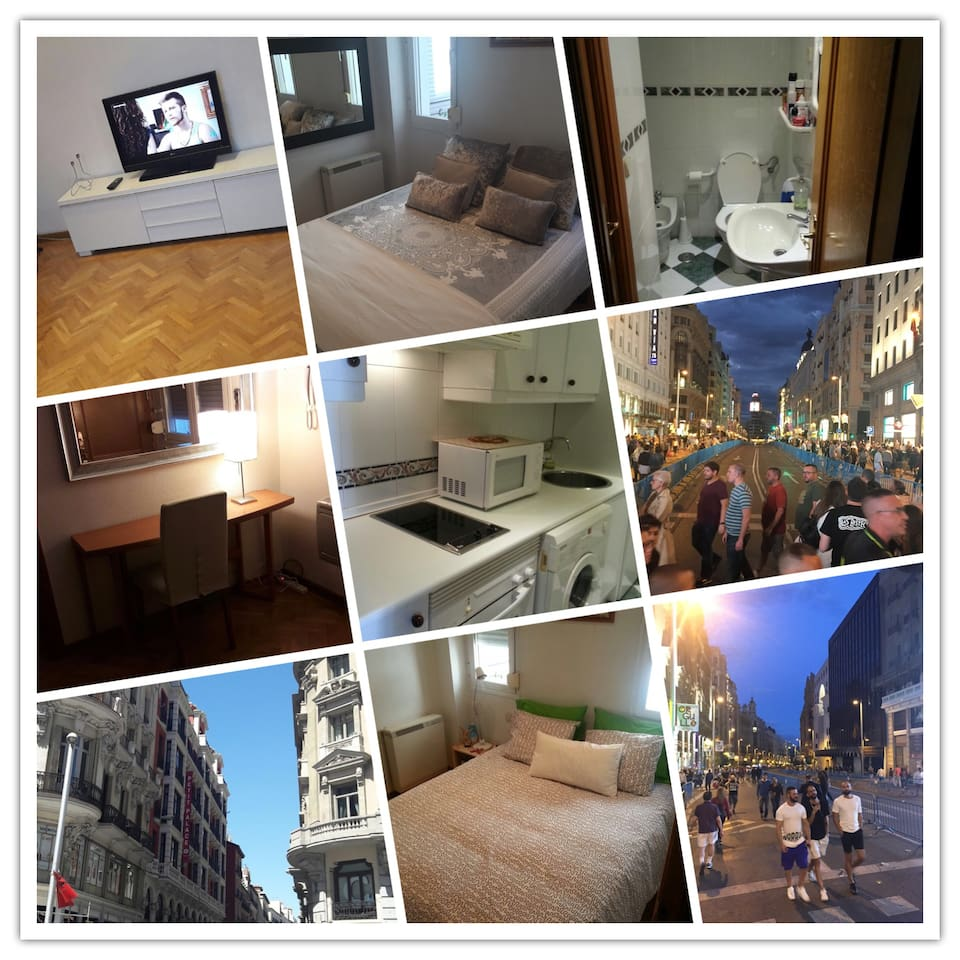 Gran V A City Center Flats For Rent In Madrid Comunidad De  # Muebles Paco Duque