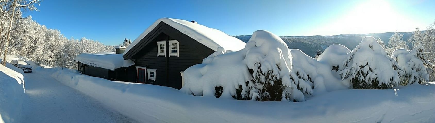 Geilo cozy big cabin. BBQ, terrace , JACUZZI!